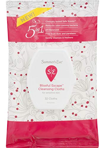 Summer's Eve Cleansing Cloths, Blissful Escape, Unscented, 32 Count
