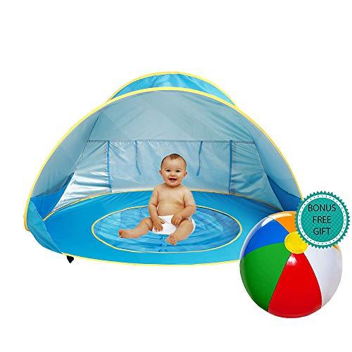 E-MANIS Tienda Playa Bebe,Pop-up Tienda de bebé con Piscina para Infantil Carpa Plegable Portátil...