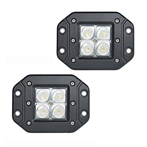 PoJu FUSKANG 2Pcs 16W LED Lampes de travail, lampe de poche Éclairage d'inspection Lumières de camion Feux antibrouillard Lampes à LED (Color : Spot Light-12 * 10 * 8cm)