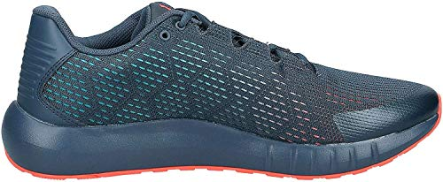 Under Armour mens Micro G Pursuit SE Running Shoe, Wire (402)/Teal Rush, 8.5