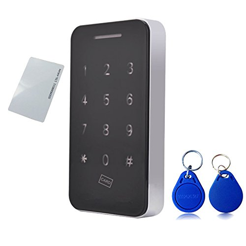 Touch Keypad Cabinet Lock Electronic Cabinet Lock Kit Set with RFID Keys & 5V DC Power Port Backup for Jewelry Box Baby Proof Closet Medicine Cabinet Cupboard