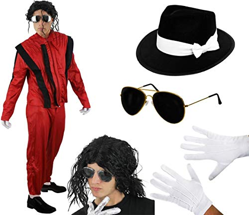I LOVE FANCY DRESS LTD Disfraz DE Rey del Pop Adultos - Jacko Thriller (Mediano)