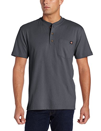 Dickies - WS451 Heavyweight Henley pour hommes, X-Large, Charcoal