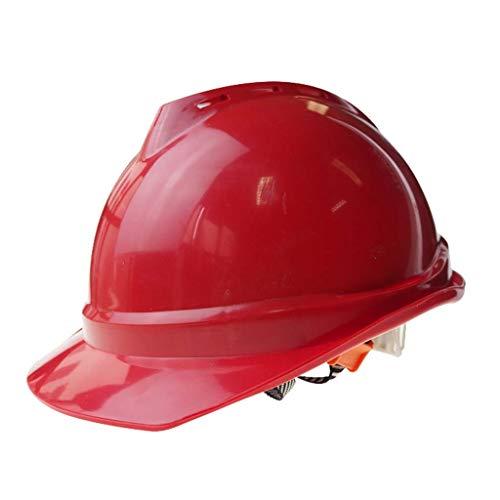XHDP Sicherheitskopfbedeckungen Bau hochfeste Lüftungstechnik Schutzhelm, geeignet for Energie Bergbau Baustelle Gleisvermessung (Color : B)