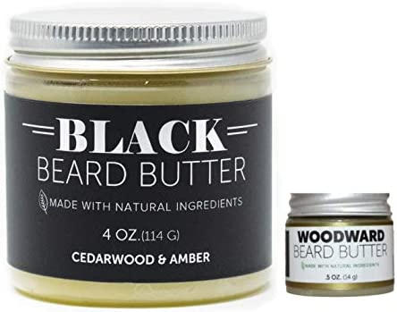Detroit Grooming Co Beard Butter Combo Black Edition 4oz and Woodward 0 5oz Essential Oils Natural product image