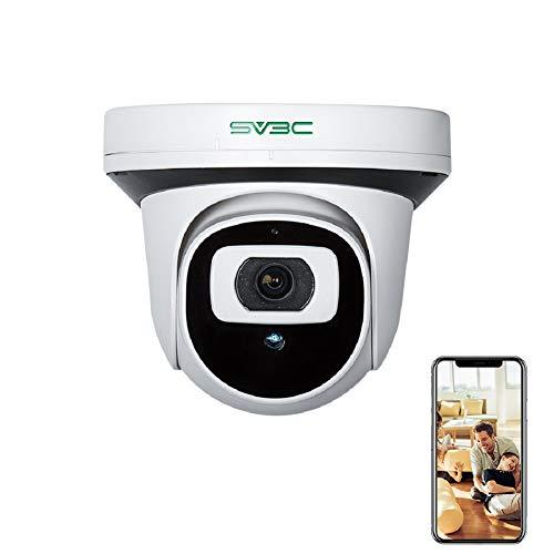 SV3C 5MP Telecamera IP POE, Videocamera di Sorveglianza con Visione Notturna, Rilevamento del Movimento, Accesso Remoto Supporta Android, iOS e Windows PC