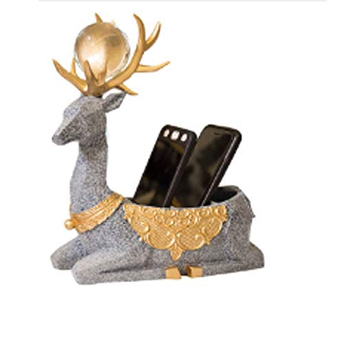 liushop Decoraciones Esculturas Decoraciones for el hogar Creativas Adornos Sala de Estar Oficina Elk Lindo Inicio Caja de Almacenamiento de Llaves Artesanía Muebles Caja de Almacenamiento Obra Arte