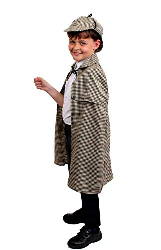 I LOVE FANCY DRESS LTD Sherlock Holmes Deluxe KOSTÜM Set MIT Hut - PERFEKT FÜR BUCHWOCHE ODER Halloween KOSTÜME (Deerstalker Hut & PASSENDER KRAGENUMHANG - Standard)