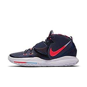 "Nike Men's Kyrie 6""USA Midnight Navy/Laser Crimson (BQ4630 402) - 12"