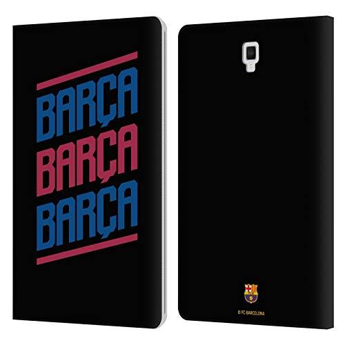 Head Case Designs Oficial FC Barcelona Triple Forca Barca Carcasa de Cuero Tipo Libro Compatible con Galaxy Tab S4 10.5 (2018)