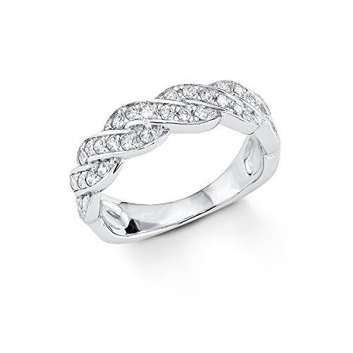 s.Oliver Damen-Ring 925 Silber Zirkonia transparent Gr. 56 (17.8) - 507677