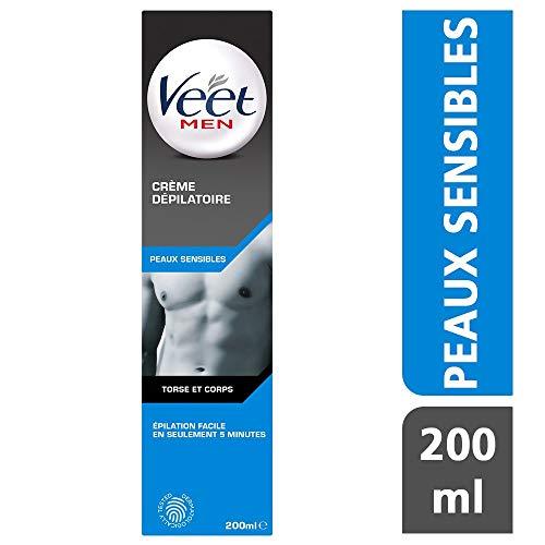 Veet - Crème Dépilatoire Homme - Peaux Sensibles - 200 ml