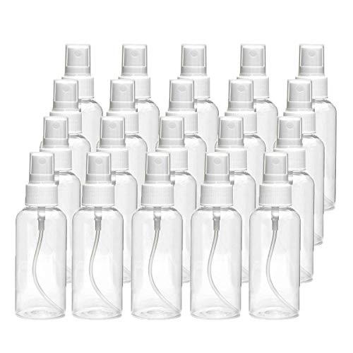 Juego de 20 Paquetes de Botellas de pulverización de Niebla Fina Recargables, Botellas de Viaje para cosméticos, Maquillaje, aceites Esenciales, Limpieza, jardinería