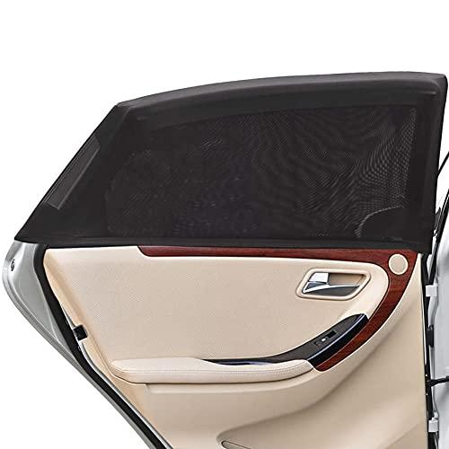 Uarter Auto Sonnenschutz Kinder Sonnenblende Auto mit UV Schutz Sonnenschutzrollo Auto für Seitenfenster Meshmaterial Schützt Mitfahrer, Baby, Kinder & Haustiere 2 Stück (Schwarz, L)