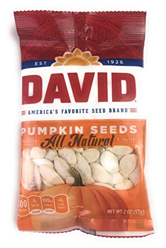 David Roasted & Salted Pumpkin Seeds All Natural 2oz (Pack of 3) (pumpkin seeds)