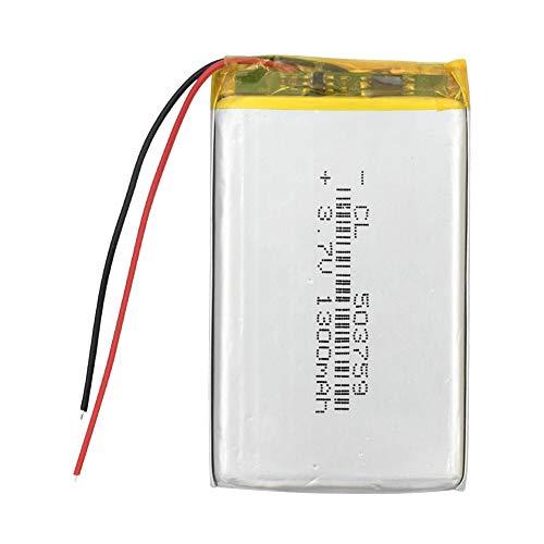 N/V 3.7V 1300mAH polímero de Iones de Litio / batería Recargable de Iones de Litio para GPS, mp3, mp4, mp5, DVD, Bluetooth, Modelo de Juguete móvil Bluetooth 5Pcs