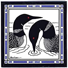 product image for Loons in Lake Tile - Wall Plaque - Trivet WL-3