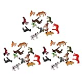 HomeDecTime 36 Unids / Set Modelo De Animal De Granja Figura De Simulación Pintada para Diseño De Tren De Modelo En Miniatura Parque Zoológico De Granja Animal Sa