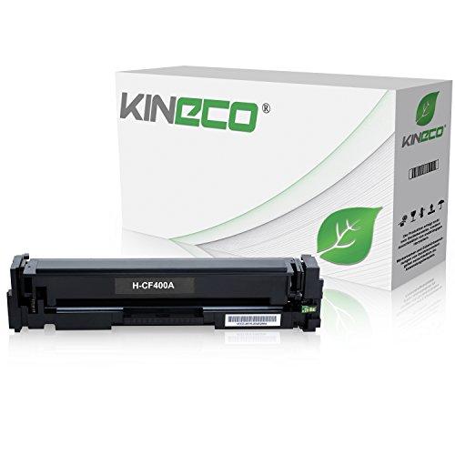 Kineco Toner kompatibel zu HP CF400A 201A Tonerkartusche für HP Laserjet Pro MFP M277dw, Pro 200 M252dw, M277n, M252n, M277n, M274n - Schwarz 1.500 Seiten