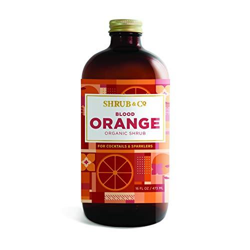 Shrub & Co Organic Blood Orange Shrub | Fruit-Driven, Apple Cider Vinegar-Based Mixers for Cocktails, Sparklers, and Club Sodas | 16 fl. oz.