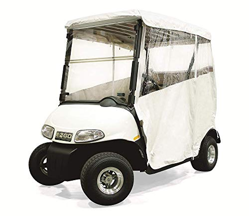 RED DOT EZGO RXV Vinyl 3 Sided Over The Top Golf Cart Enclosure Top (with 5 Channels), White