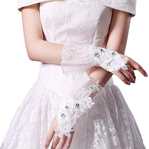 Gants de mariée mariage robes de soirée dentelle gants courts B15