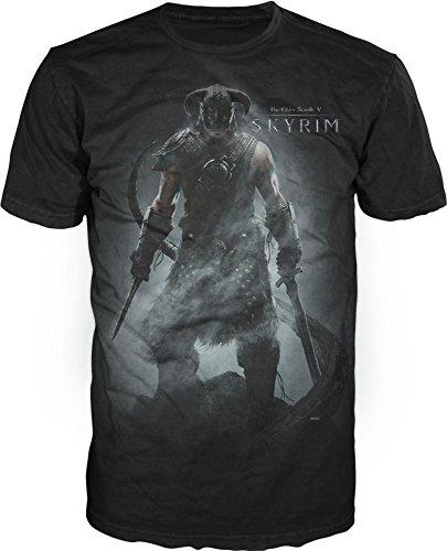 T-Shirt - Skyrim - Character , Black - medium