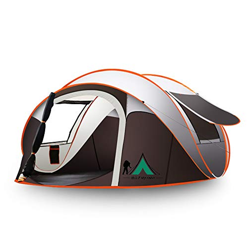 Fully Automatic Quick-Opening Tent Ideal for Families with 3-4 People and 100% Rain-Proof Tent for Beach Camping/moisture-Proof Mat