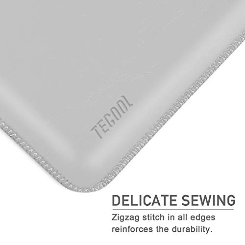 TECOOL Laptop Hülle 13 Zoll Tasche, Laptop Sleeve Kunstleder Schutzhülle Case für MacBook Air/Pro Retina 13,3, HP Envy x360, Huawei 13 MateBook E/X, ASUS Flip C302CA, Dell 13 XPS -HellGrau - 6