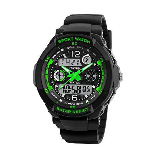 yidenguk Kinder Digital Uhr Wasserdicht Outdoor Sport Digital Uhren Analog Uhr mit Wecker/Timer/LED Licht Elektronisch Stoßfest Armbanduhr für Jungen Jugendliche Kinder