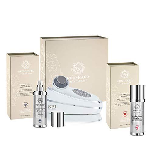 REX-KARA PREMIUM SPI-BEAUTY SYSTEM – LIFTET, STRAFFT UND PERFEKTIONIERT ohne Kompromisse! LUXUS STARTER SET - Synchron Kosmetischer ULTRASCHALL & GALVANIC & PHOTONEN