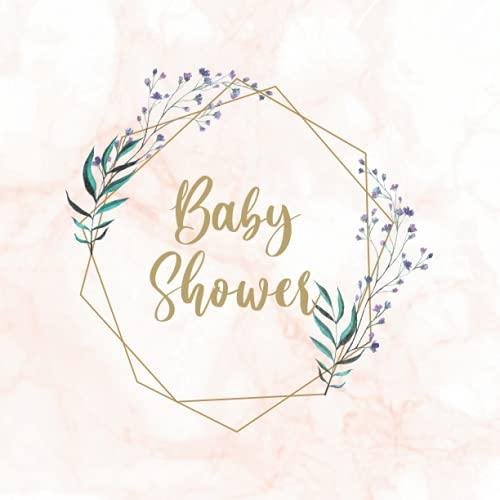 Baby shower Libro de firmas: de visitas para dedicatorias y recuerdos de invitados para el niño o la niña. Idea regalo para el bebé. Detalle Accesorio o Decoración. Guest Book babyshower Español
