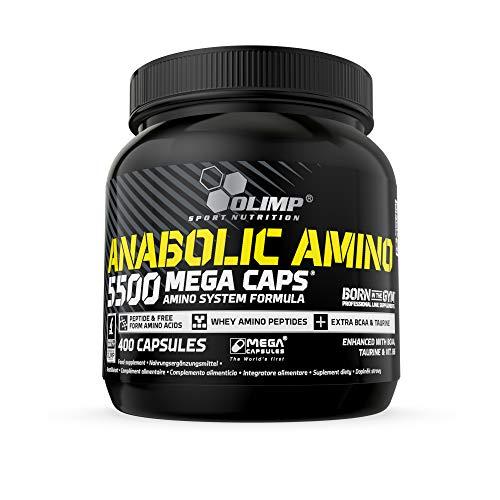 Olimp Sport Nutrition Cápsulas de Aminoácidos Anabolic Amino 5500 Mega - 400 unidades
