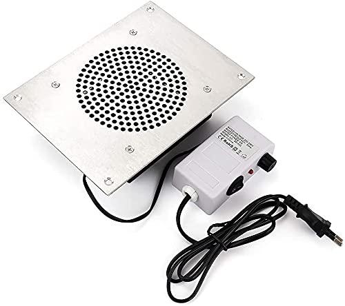 NYZXH 4000RPM Nail Cleader Cleaner Desktop incorporado en la máquina de limpiador de ventilador de aspiración de succión con 3 bolsas de recogida Secador de uñas Extractor Manicure Pedicure Herramient