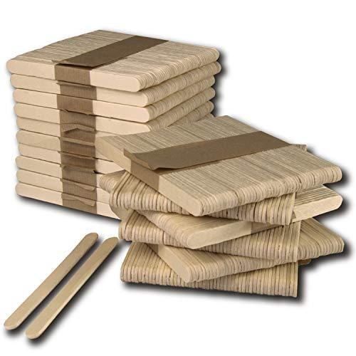 800 Palos de Helados de 11.4 cm. palitos de madera manualidades sin astillas. Palitos de madera natural para manualidades y dynartesanias para diseños creativos. Paletas de madera.