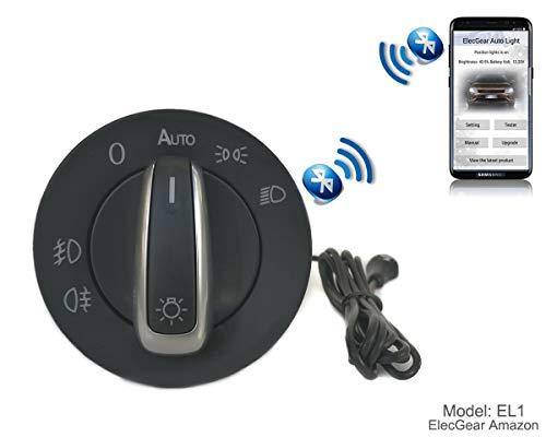 EL1 Bluetooth App Sensor de luz Faros interruptor, Faro Niebla Luces Antiniebla Interruptor de luz, Coming Leaving Home módulo relés – Golf 5/6, Passat B6, B7, CC, Scirocco, EOS, Jetta, Yeti, T6