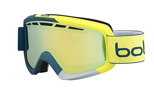 bollé Erwachsene Skibrille Nova Ii Blue/Yellow Citrus Gold, Matte Black & Yellow Gradient, Medium/Large