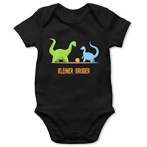 Shirtracer Geschwisterliebe Baby - Kleiner Bruder Dinosaurier - 18/24 Monate - Schwarz - Baby_Body_Kurzarm_BZ10 - BZ10 - Baby Body Kurzarm für Jungen und Mädchen