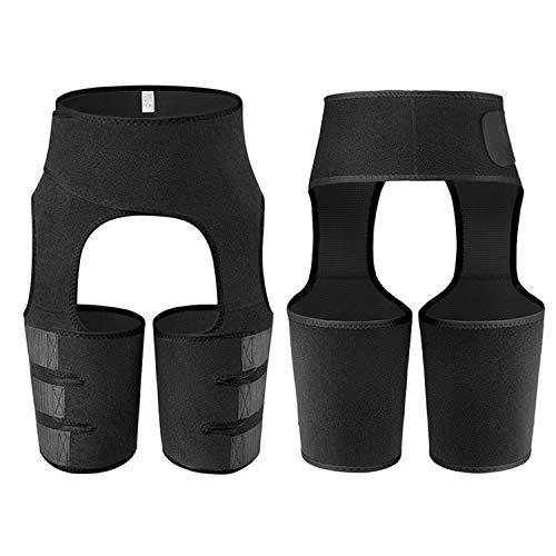 LIZIHAO Sauna - Recortadora de cintura alta para mujer, 3 en 1 para sudar muslos y levantamiento de glúteos (color: amarillo, tamaño: XXXL)
