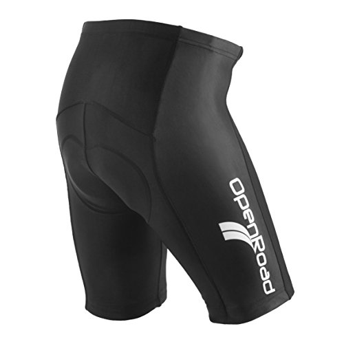 OpenRoad-Pantaloncini da uomo, imbottiti in gel, per ciclismo su strada