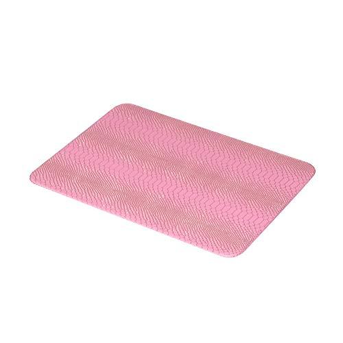 sjzwt Cojin Manicura Nail Art Snake Skin Table Pad Mano Almohada Brazo Reposar Cojín Salón Manicura Herramienta (Color : Pink Pad)