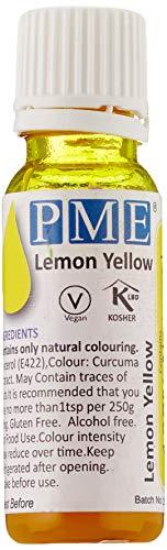 PME 100% natürliche Lebensmittelfarbe - Zitronengelb, 25 g