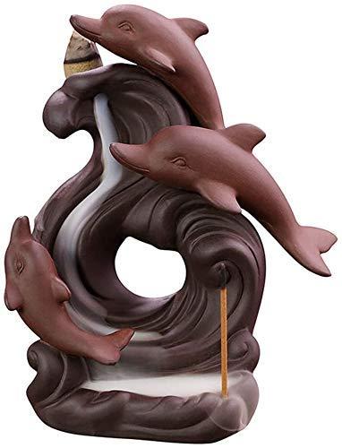 CENTER mit Refluxwasserfall, Raucherhalter Handgemachte Keramikdekoration für Zuhause, Geschenkfigur Xping