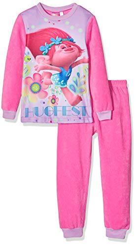 TROLLS 2200001857 Conjuntos de Pijama, Rosa, Pequeño para Niñas