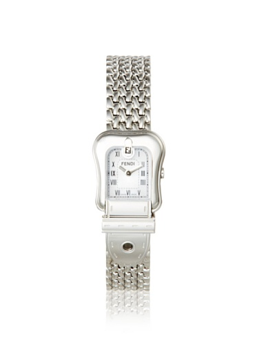 Fendi Women's F386240 White Mother of Pearl Stainless Steel Watch