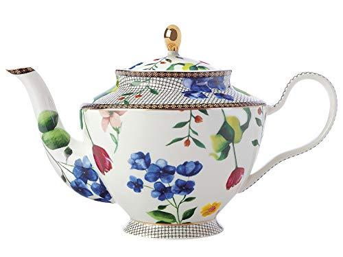 Maxwell & Williams Teas & C's - Teiera grande con infusore e design Contessa in porcellana, bianco, 1 litro