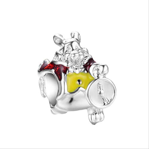 HUASE Accesorios Aleación Bead Tetera Tiger Rabbit Mouse Charm Fit Pandora Pulsera Collar DIYA777 Y