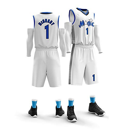 HJSW Maglia da Basket NBA Uomo, Vintage Swingman Jersey, 1 (Tracy McGrady), Maglie Canotta NBA Tuta da Basket Pallacanestro Uniforme, XS-XXL (Color : Style-3, Size : XXL)