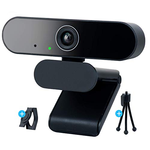 EVOCUS Webcam Pc con Microfono, Web Camera per Pc Usb Full Hd con Treppiede per Telecamera Pc e Copri Webcam Gaming Inclusi