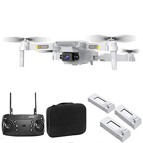 Drone Pieghevole HJ15 per Adulti con videocamera WiFi 4K / 1080 HD / 720 - Ritorno Automatico GPS quadricottero FPV RC, Custodia Portatile, Controllo App, Foto gestuale, waypoint